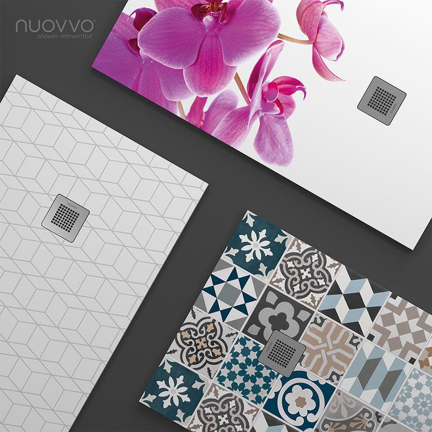 Ahora es posible añadir  imágenes a nuestro plato de ducha. Disponemos de una infinidad de diseños , además de podernos adaptar a las exigencias y preferencias del cliente.